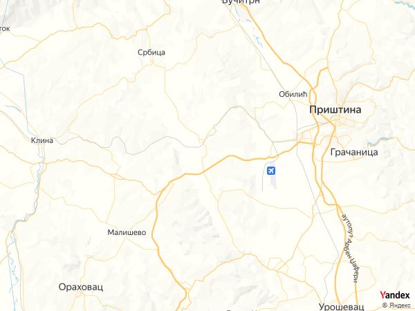 خريطة برشتينا، جمهورية كوسوفو