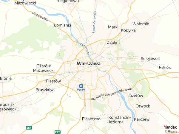 خريطة  وارسو ، الجمهورية البولندية