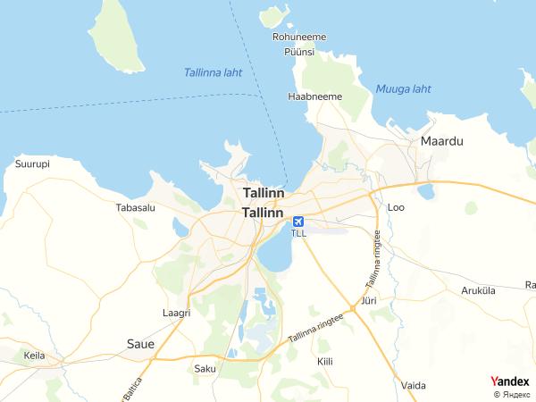 خريطة  تالين ، جمهورية إستونيا