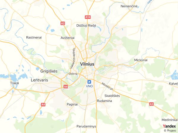 خريطة  فيلنيوس ، جمهورية ليتوانيا