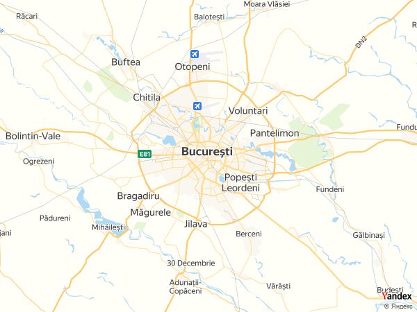 خريطة  بوخارست ، جمهورية رومانيا