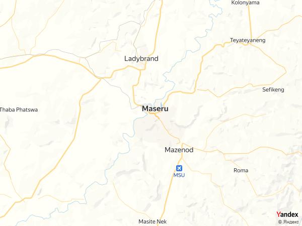 خريطة  ماسيرو ، مملكة ليسوتو