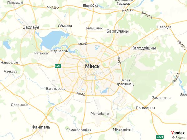 خريطة  مينسك ، الجمهورية البيلاروسية