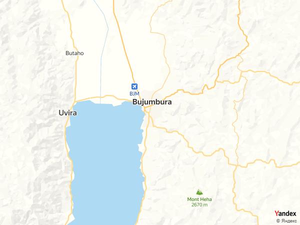 خريطة  بوجمبورا ، جمهورية بوروندي