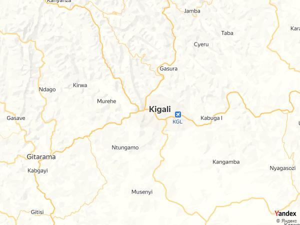 خريطة  كيغالي ، جمهورية رواندا