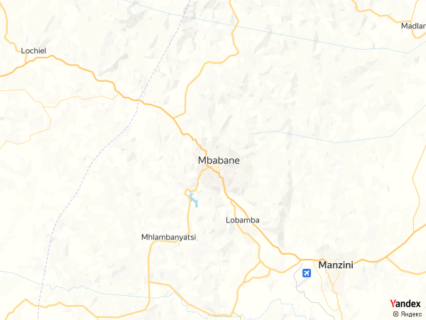خريطة  مبابان ، مملكة سوازيلند