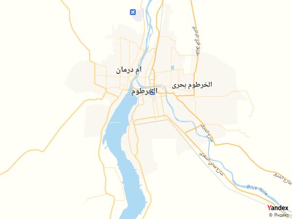 خريطة  الخرطوم ، جمهورية السودان