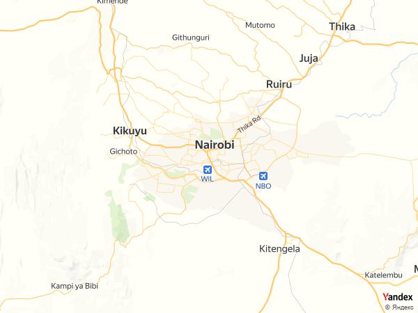 خريطة  نيروبي ، جمهورية كينيا