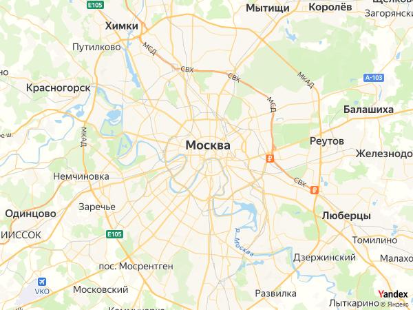 خريطة  موسكو ، الإتحاد الروسي