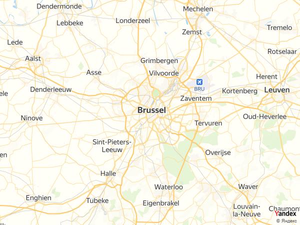خريطة  بروكسل ، مملكة بلجيكا