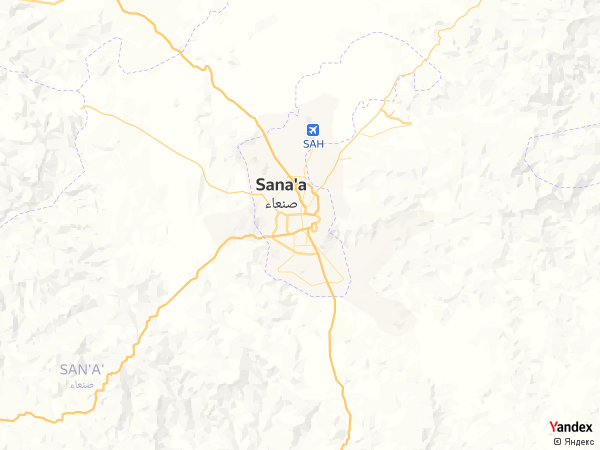 خريطة  صنعاء ، الجمهورية اليمنية