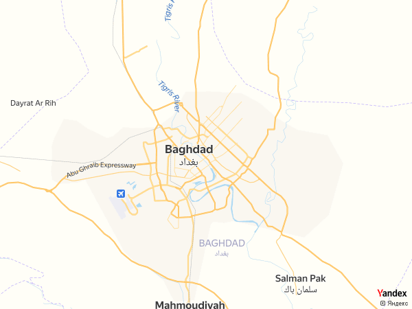 خريطة  بغداد ، جمهورية العراق