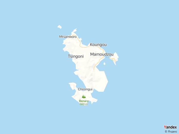 خريطة  مامودزو ( جزيره تابعة لفرنسا ) ، الإدارة الجماعية لمايوت