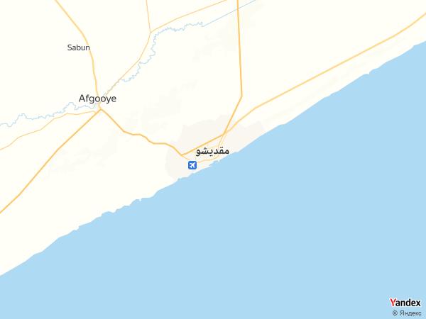 خريطة  مقديشو ، جمهورية الصومال