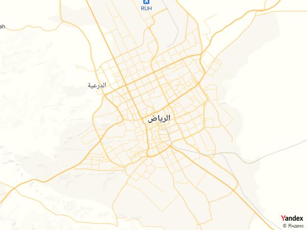 خريطة  الرياض ، المملكة العربية السعودية
