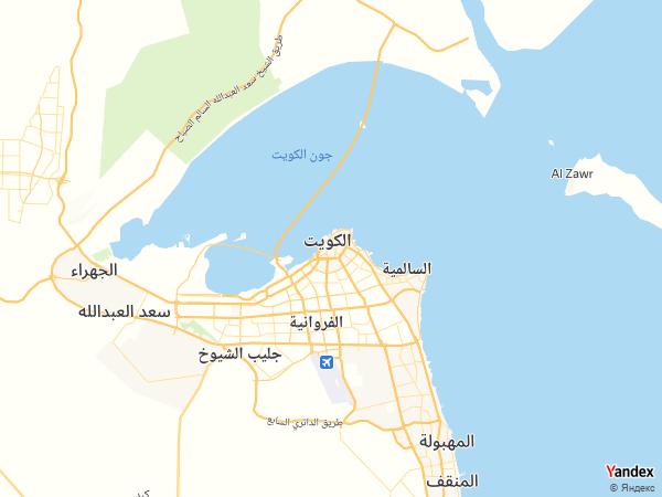 خريطة الكويت العاصمة، دولة الكويت