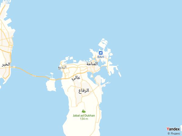 خريطة  المنامة ، مملكة البحرين