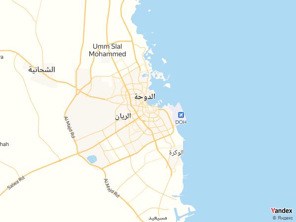 خريطة  الدوحة ، دولة قطر