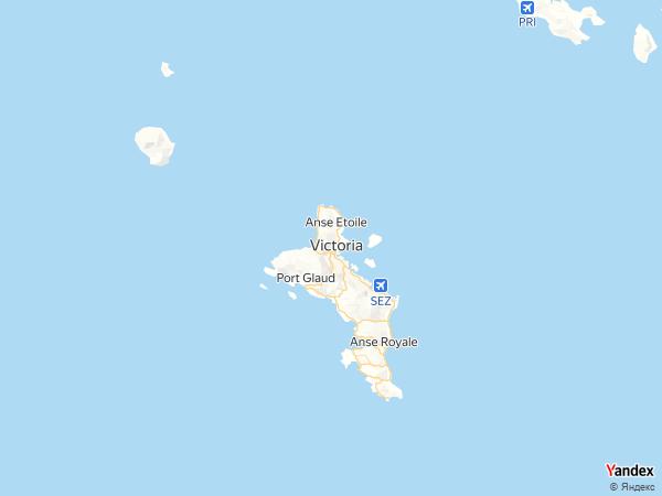 خريطة  فيكتوريا ، جمهورية سيشيل