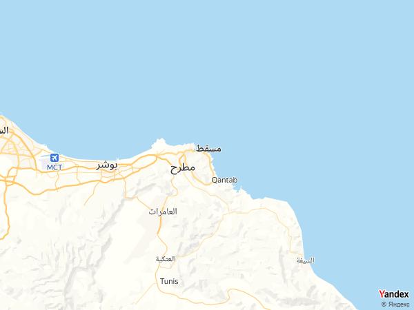 خريطة  مسقط ، سلطنة عمان