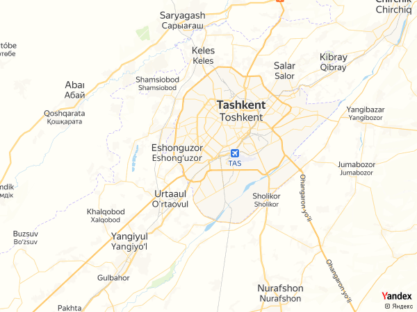 خريطة  طشقند ، جمهورية أوزباكستان