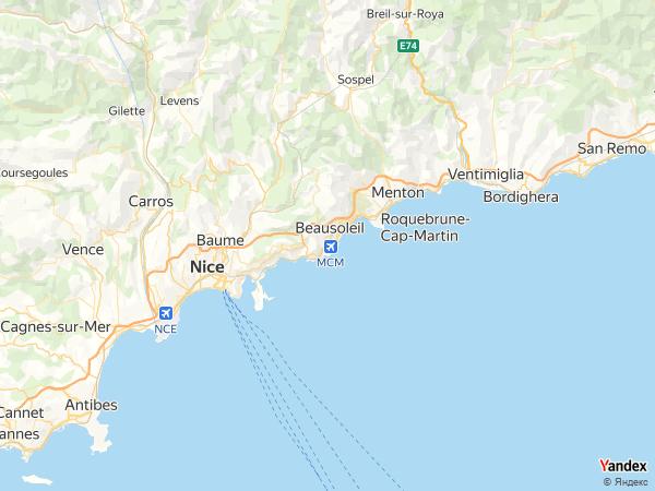 خريطة  موناكو فيل ، إمارة موناكو