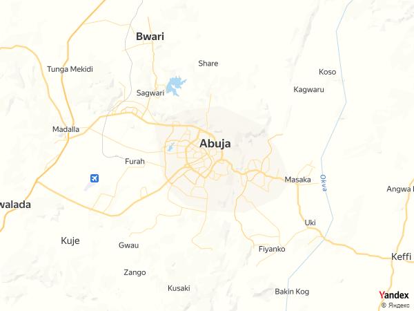 خريطة  أبوجا ، الجمهورية النيجيرية الإتحادية