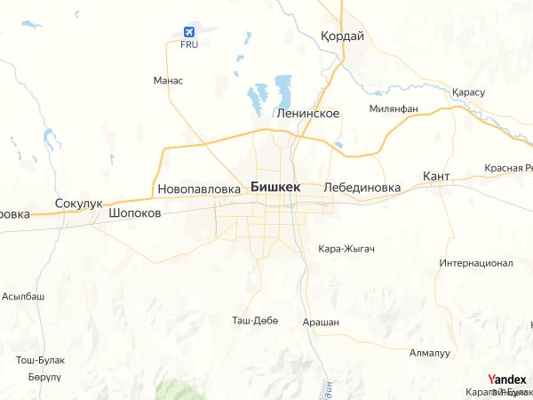 خريطة  بشكيك ، جمهورية قرغيزستان