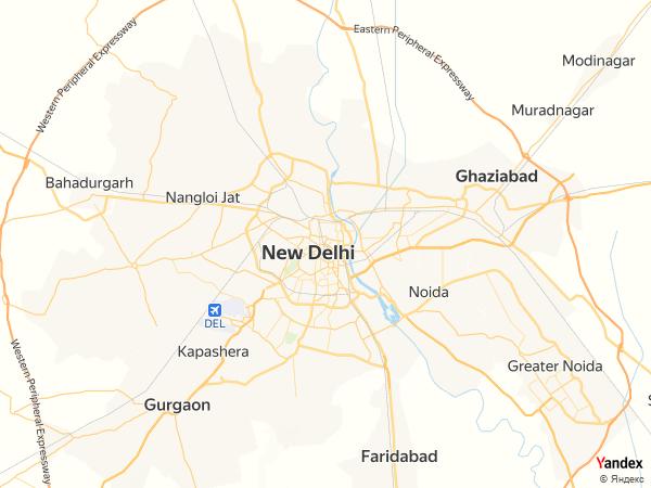 خريطة  نيودلهي ، جمهورية الهند