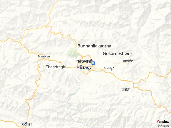 خريطة  كاتماندو ، جمهورية نيبال الديمقراطية