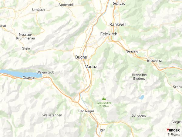 خريطة  ڤادوتس ، إمارة ليختنشتاين