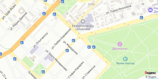 Yandex Map of 27.923,43.208