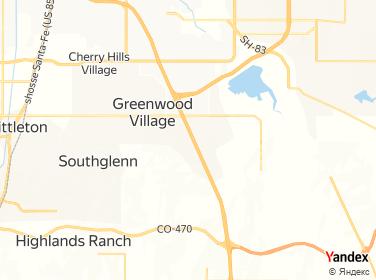 Denver Tech Center Map on