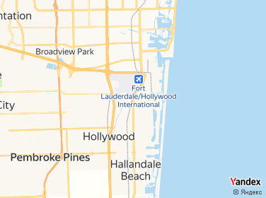Dania Beach Florida Map on