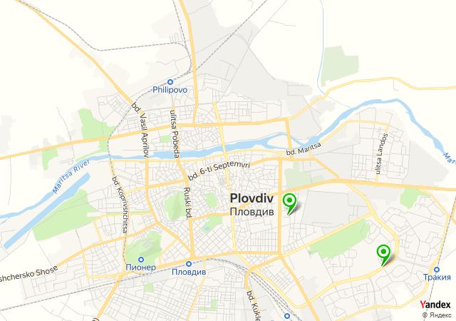 Yandex Map of 24.7507,42.1526