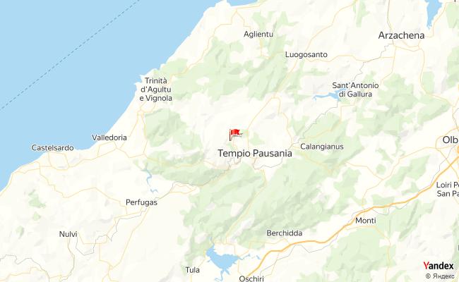 Yandex Map of 9.057546,40.9282754