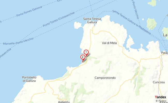 Yandex Map of 9.167,41.185