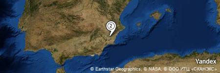 Yandex Map of 1.847 miles of Los Valientes