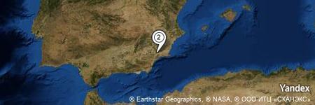 Yandex Map of 1.550 miles of Rambla de los Molinos