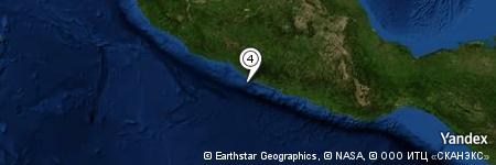 Yandex Map of 8.561 miles of Morro de Papanoa