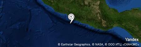 Yandex Map of 45.707 miles of Morro de Papanoa