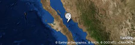Yandex Map of 29.207 miles of Punta El Gato