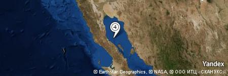 Yandex Map of 23.432 miles of Punta Calamajué