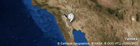 Yandex Map of 0.977 miles of Margarito Medina (Ejido Nuevo León)