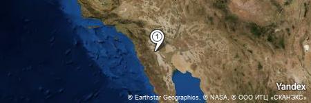 Yandex Map of 1.046 miles of Agua Grande