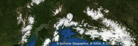 Yandex Map of 1.510 miles of Ted Stevens Icefield