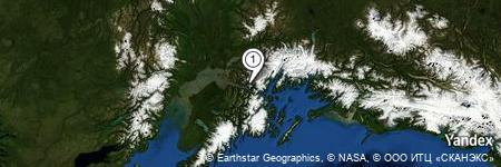 Yandex Map of 4.308 miles of Mount Alyeska