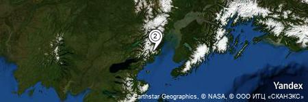 Yandex Map of 2.018 miles of Iliamna Volcano