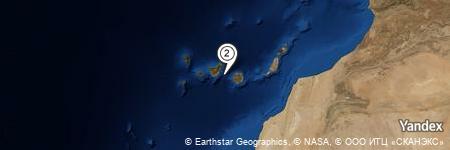 Yandex Map of 17.143 miles of Hotel Tigaiga