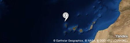 Yandex Map of 23.592 miles of Punta Juan Alí